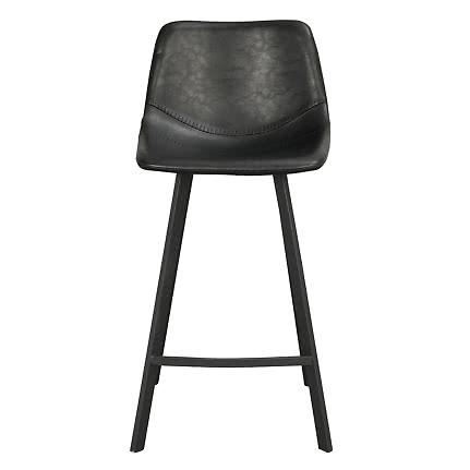 Auburn barstol konstläder svart | Ekeby Möbler