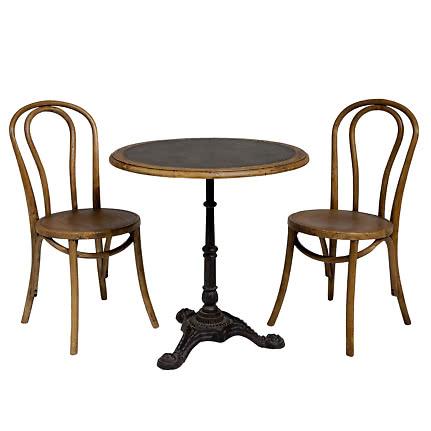 Bretagne café set Ø70 cm med två stolar svart | Ekeby Möbler