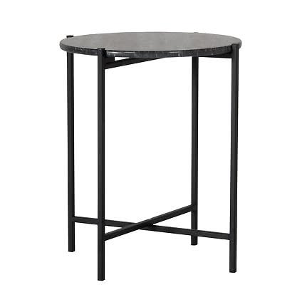 Marbilus sidobord marmor svart Ø40 cm   Ekeby Möbler